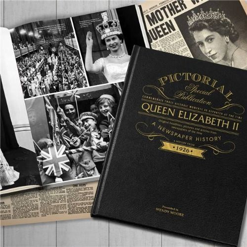 Personalised Queen Elizabeth Newspaper Book with gift box